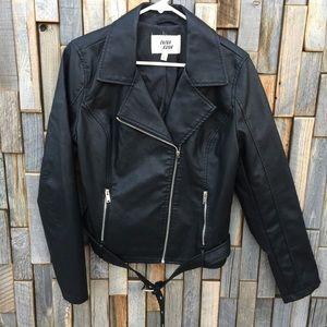 Woman's outer edge moto jacket coat large